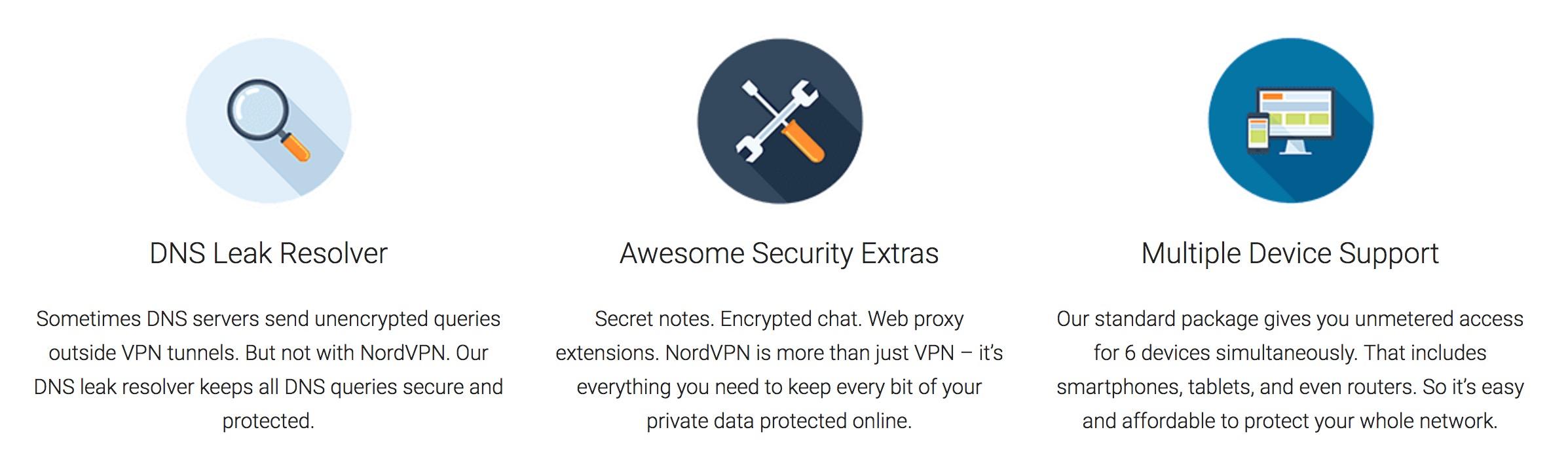 main features nordvpn