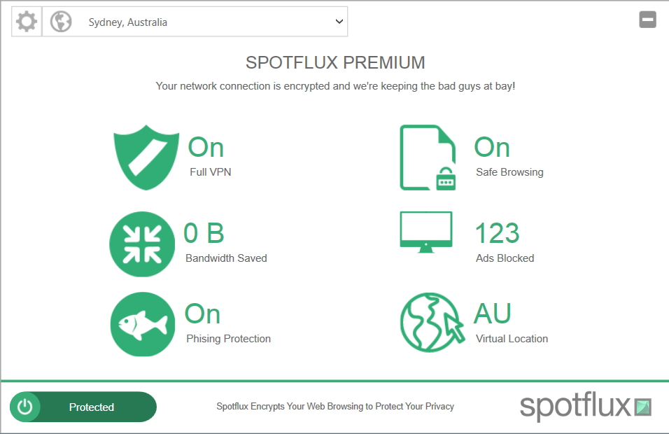 spotflux-premium-vpn-review-interface